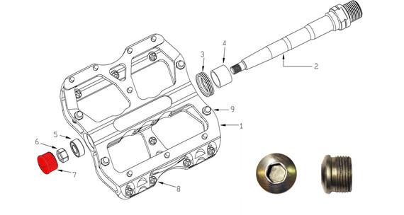 Reverse Achsendkappe für Escape Pedal